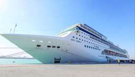 Cruise ship MSC Lirica calls on Doha Port