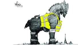 Yellow Vests Protest - Cartoon