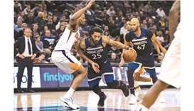 Rose and Towns combine as 'Wolves edge Suns