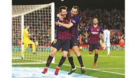 Dembele shines but Messi needed off bench to rescue Barca