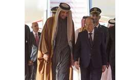 His Highness the Amir Sheikh Tamim bin Hamad al-Thani with Lebanese President Michel Aoun