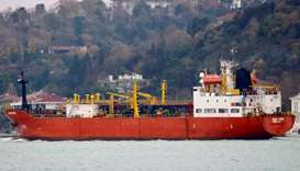 Tanzanian-flagged LPG tanker Maestro sails in the Bosphorus towards the Black Sea (file photo)