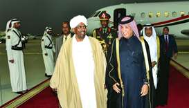 Sudan President Omar Al Bashir arrived in Doha