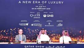 Officials announcing the details of Qatar Show.