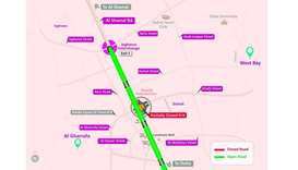 Minor traffic diversion at Duhail Intersection roundabout