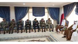 Amir meets military leaders from friendly countries