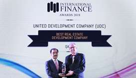 UDC wins 'Best Real Estate Development Company in Qatar' in 2018