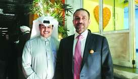 Qatar's ambassador to India Mohamed bin Khater al-Khater and QM acting CEO Ahmad al-Namla at the eve