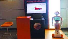 Al Khaliji uses robot to introduce products to passengers at HIA