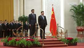 His Highness the Amir visits China