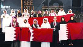 Qatari inventors won 14 medals in Kuwaiti fair