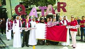 Supreme Committee for Delivery & Legacy (SC) employees wore maroon to show their support for the Qat