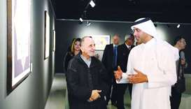Dignitaries and officials at the opening of the Kingdom of Geometry exhibition at Katara