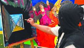 Visitors can commission and buy on-the-spot their favourite art pieces by renowned local artists at