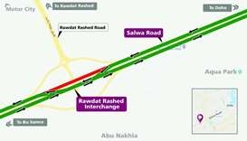 Traffic diversion on part of Salwa Road