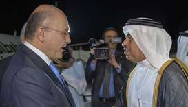 Iraqi president arrives in Doha