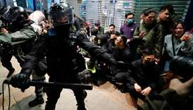 Tear gas fired at Hong Kong New Year's protests