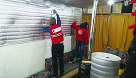 QRCS brings warmth to Syrian refugees in Lebanon