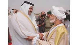 With HH the Father Amir Sheikh Hamad bin Khalifa al-Thani, who was then Amir of Qatar, April 2000