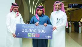 Qatar Rail welcomed the 10 millionth passenger of Doha Metro