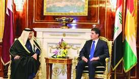 FM meets Kurdistan president and PM