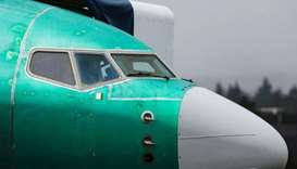 FILE PHOTO: A Boeing 737 Max aircraft is seen parked in a storage area at the company's production f