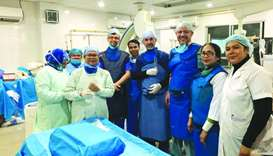 The medical mission saw the participation of seven physicians from the HMC and Sidra Medicine, in ad