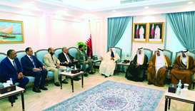 Shura Council Speaker meets delegation of Libyan House of Representatives