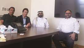 University of Queensland officials Md Shahriar Hossain and Prof Yusuke Yamauchi along with Qatar Uni