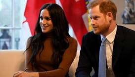 Britain's Prince Harry and his wife Meghan, Duchess of Sussex visit Canada House in London, Britain