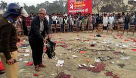 In this file photo taken on January 20, 2001, an unidentified leader of the Bangladesh Communist Par