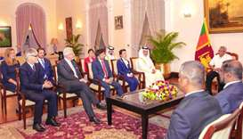 Lankan President receives Qatari envoy's credentials