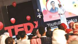 A snapshot from the TEDxYouth@AlDafna conference.