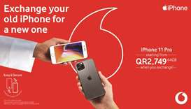 Vodafone unveils trade-in offer on iPhones