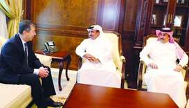 HE the Minister of Transport and Communications Jassim Seif Ahmed al-Sulaiti holding talks with EASA