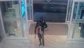 A CCTV image that shows the robber entering the jewellery shop in Bangkok