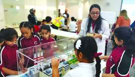 The Sustainable Built Environment lab hosted students from schools across Qatar.
