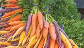 Carrots are not always orange. They also come in white, purple, yellow and red hues.