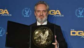DGA Feature Film Award winner for '1917' Sam Mendes poses with the 72nd Annual Directors Guild Of Am