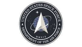 The new logo for the US Space Force that was unveiled on Friday.