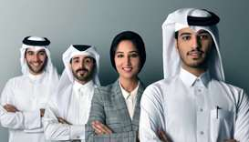 The hapondo team (from right) Adulla al-Fadhala and co-founders Haajerah Khan, Abdulaziz al-Yazeedi,