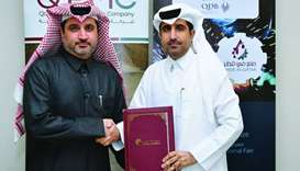 Qatar Chamber director general Saleh bin Hamad al-Sharqi and QPMC CEO Essa Mohamed Ali Kaldari shaki