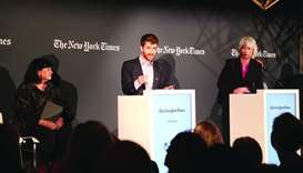 QatarDebate sponsored the event at the World Economic Forum in Davos in collaboration with the New Y