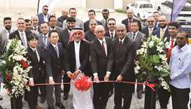 Senior AAB and Toyota Motor Corporation officials at the inauguration of the Al Khor Express Service