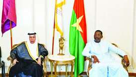 Speaker of the National Assembly of the Republic of Burkina Faso Alassane Bala Sakande, with Speaker