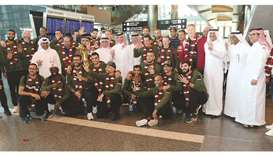 Asian champs hailed, arrive to warm welcome