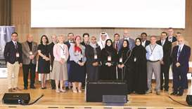 Participants at the Weill Cornell Medicine – Qatar conference.