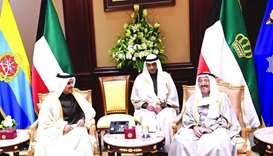 Amir of Kuwait meets al-Kaabi