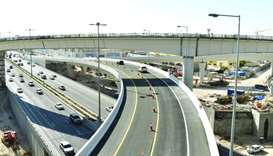 The second flyover bridge Ashghal opened at Umm Lekhba Interchange on Sabah Al Ahmad Corridor