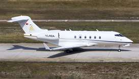 TC-RZA, a private jet which was used during the escape of ousted Nissan chairman Carlos Ghosn from J